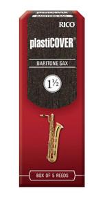 Rico Plasticover Baritone Sax Reeds, Strength 1.5, 5-pack