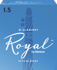 Rico Royal Bb Clarinet Reeds, Strength 1.5, 10-pack