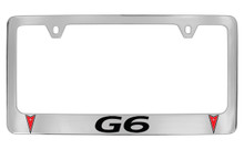 Pontiac G6 Block Letters And Two Logos License Plate Frame