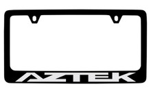 Pontiac Aztek Black Coated Zinc License Plate Frame With Silver Imprint