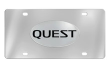 Nissan Quest Chrome Plated Solid Brass Emblem Attached To A Stainless Steel Plate