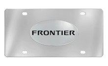Nissan Frontier Chrome Plated Solid Brass Emblem Attached To A Stainless Steel Plate