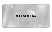 Nissan Armada Chrome Plated Solid Brass Emblem Attached To A Stainless Steel Plate