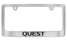 Nissan Quest Official Chrome License Plate Frame Tag Holder