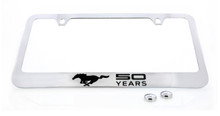 Mustang 50th Anniversary-50 Years With Single Pony Chrome Plated Brass With Black Imprint