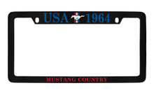 Ford USA 1964 With 3 Bar And Pony Top Engraved Chrome Plated Solid Solid Brass License Plate Frame Holder