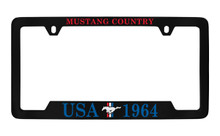 Ford USA 1964 With 3 Bar And Pony Bottom Engraved Universal Chrome Plated Solid Solid Brass License Plate Frame Holder
