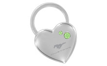 Mustang Chrome Heart Shape Keychain Embellished With Swarovski Crystals (FOKCYH-G300-E)
