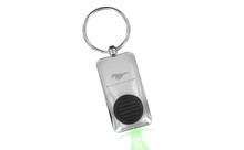 Mustang Chrome Plated Rectangular Lighted Button Keychain