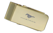 Mustang Gold Plated Money Clip