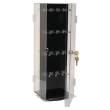 Acrylic Key Chain Display With 2 Doors With Universal Lock. Holds Up To 192 Key Chains
