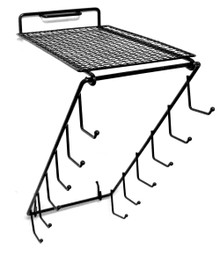 Waterfall Rack With Grid Shelf