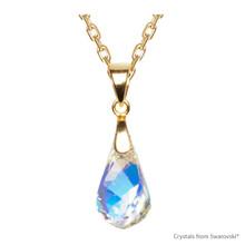 Crystal Aurore Boreale Helix Necklace Embellished With Swarovski Crystals (NE1G-001AB)