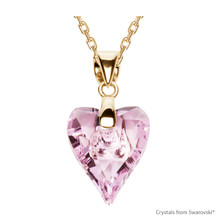 Rosaline Wild Heart Necklace Embellished With Swarovski Crystals (NE4G-508)