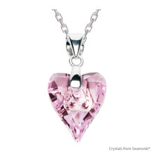 Rosaline Wild Heart Necklace Embellished With Swarovski Crystals (NE4R-508)