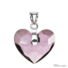 Antique Pink Truly In Love Heart Pendant Embellished With Swarovski Crystals (PE2R-001ANTP)