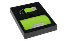 Honda Green Business Card Holder And Purple And Green Keychain Set