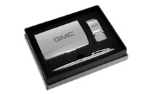 GMC Satin Money Clip, Card Case, And Ball Pen Gift Set In Deluxe Box
