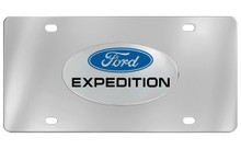 Ford Expedition Chrome Plated Solid Brass Emblem Attached To A Stainless Steel Plate