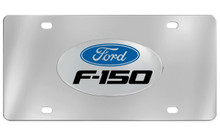 Ford F-150 With Logo Chrome Plated Solid Brass Emblem Attached To A Stainless Steel Plate