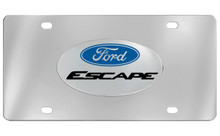 Ford Escape With Logo Chrome Plated Solid Brass Emblem Attached To A Stainless Steel Plate