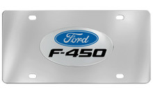 Ford F-450 Chrome Plated Solid Brass Emblem Attached To A Stainless Steel Plate