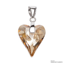 Crystal Golden Shadow Wild Heart Pendant Embellished With Swarovski Crystals (PE4R-001GSHA)