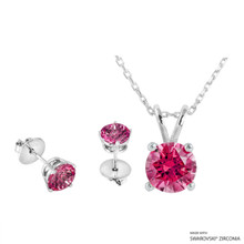 Necklace + Earring Made With Swarovski Zirconia (SNEZ2-29480)