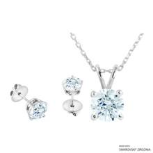 Necklace + Earring Made With Swarovski Zirconia (SNEZ2-29655)