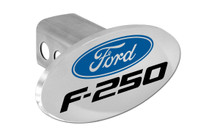 Ford F-250 With Logo Oval Trailer Hitch Cover Plug