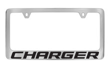 Dodge Charger Block Letters License Plate Frame Tag Holder With Black Imprint