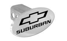 Chevrolet Suburban With Logo Oval Trailer Hitch Cover Plug