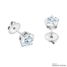 2 Carat White Round Stud Earring Made With Swarovski Zirconia
