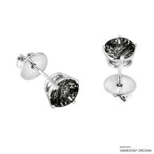 2 Carat Black Round Stud Earring Made With Swarovski Zirconia