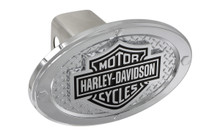 Harley-Davidson® Standard 2' Hitch Cover With Bar & Shield With Texture Back Ground & 4 Rivets Around