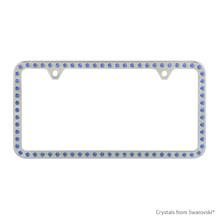 Premium Chrome Plated Zinc License Plate Frame Holder Embellished With Swarovski Crystals (LFZCY301-B-2H)