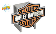 Harley-Davidson® Hitch Cover 3 Color Harley-Davidson® Bar & Shield Logo Emblem Plus Hitch Ball Post Components (HDHCBE25)