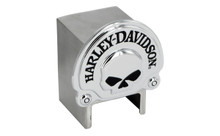 Harley-Davidson® Hitch Cover With 3D Skull Chrome Plated Emblem Plus Hitch Ball Post Components (HDHCB06)