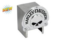 Harley-Davidson® Hitch Cover With 3D Skull Chrome Plated Emblem Plus Hitch Ball Post Components (HDHCBE06)