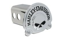 Harley-Davidson® Trailer Hitch Cover Plug 3D Skull Emblem (HDHC06)