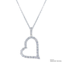 True Your Heart Necklace Made With Swarovski Zirconia