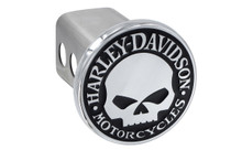 "Harley-Davidson® Mini 1.25"" Post Hitch Cover Kit With Willie G. Skull Dark Round Emblem & All Components/Kit"