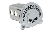 "Harley-Davidson® Mini 1.25"" Post Hitch Cover With 3D Skull Chrome Plated Emblem"