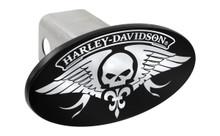 Harley-Davidson® Trailer Hitch Cover Plug With 3D Decorative Emblem