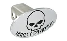 Harley-Davidson® Trailer Hitch Cover Plug With 3D Skull & Harley-Davidson® Mark