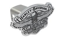 Harley-Davidson® Mini 1.25 ' Post Hitch Cover Harley-Davidson® Atop 1903 Anniversary Eagle Vintage Bar & Shield Cutout Emblem