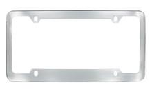 Chrome Plated Plain License Plate Frame 4 Hole