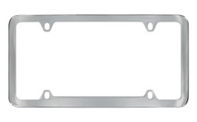 Chrome Plated Solid Brass Medium Rim License Plate Frame 4 Hole (LF328-4H)