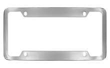 Chrome Plated Wide Top & Bottom 4 Hole Plain License Plate Frame 4 Hole (LF323.1-4H)