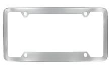 Chrome Plated Plain License Plate Frame 4 Hole (LF324.1-4H)